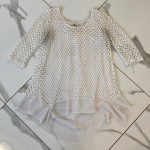 Sheer with Lace Blouse